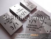 комплект навесных шильдов алюминиевых